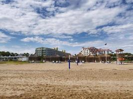 Turkish hotels at the beach in Antalya photo