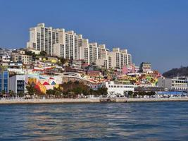 Panorama from the sea to Yeosu city photo