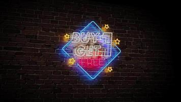 Buy One Get One Free Neon Video