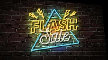 venda de flash de vídeo neon video