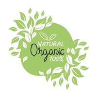 Organic natural label vector