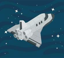 space ship flying vector