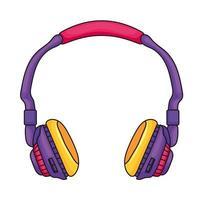 earphones retro style vector