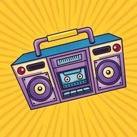 retro audio boombox vector
