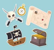 items treasure pirates vector