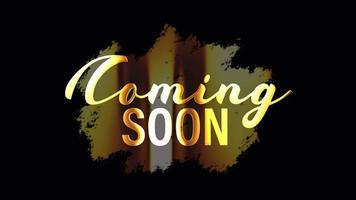 Coming Soon Gold Badge Title video