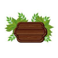 señal de madera de la naturaleza vector