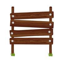 tableros de señal de madera vector