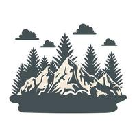 mountains and forest vector