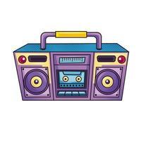 retro radio boombox vector