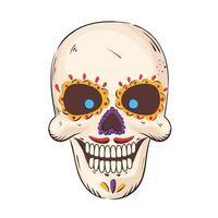 mexican traditional skull vector