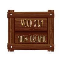 señal de madera orgánica vector