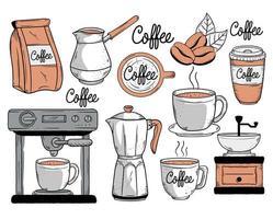 coffee ten icons vector
