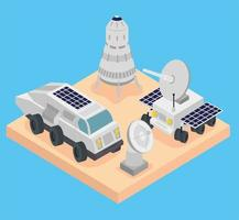isometric space center vector
