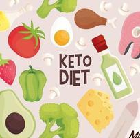 keto diet pattern vector