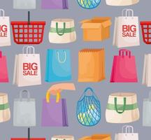 shopping packings pattern vector