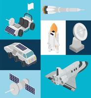 space seven icons vector