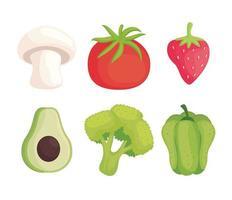 vegetarian healthy food vector