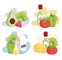 fresh healthy food vector