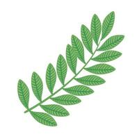 branch with leafs ecology icon vector