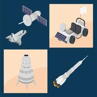 space five icons vector