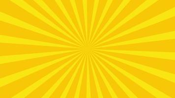 animation d'icône de soleil avec fond jaune. conception d'icône. animation vidéo. animation de dessin animé isolé soleil brillant video