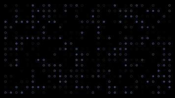 fantomblå cirklar på svart bakgrund ändras storlek med ovanifrån rörelse. looping realistisk animering med alfa transparent bakgrund för enkel användning i din video