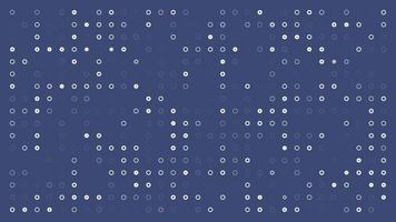 White circles on phantom blue background are changed size with top view motion. looped animation video