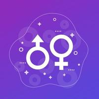 gender, sex symbols, vector icons
