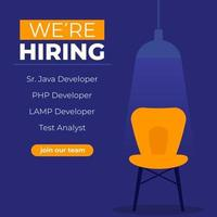 We are hiring software developers, join our team banner vector