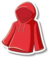 A sticker template with a red hoodie isolated vector