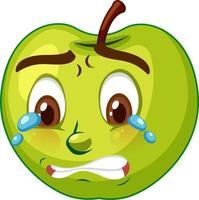 Apple cartoon character with facial expression vector