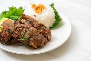 Baked Pork Ribs with Sauce photo