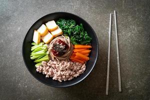 Korean spicy cold noodles photo
