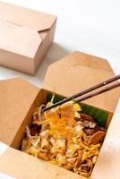 fideos chinos de arroz al vapor foto