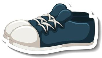 A sticker template with blue sneakers isolated vector