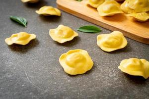 Traditional Italian ravioli pasta photo