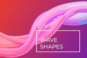 Modern colorful dynamic fluid flow poster template. Wave liquid shape on pink purple color background. Art design for design project. Vector abstract gradient cover illustration