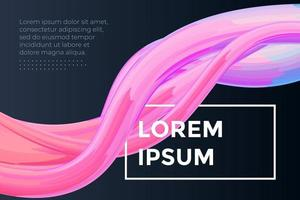 Modern colorful dynamic fluid flow poster template. Wave liquid shape on dark color background. Art design for design project. Vector abstract gradient illustration