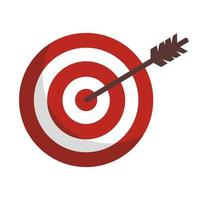 success target with arrow isolated icon vector