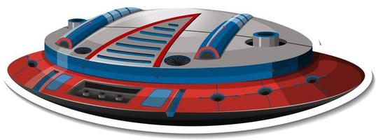 A sticker template with UFO or fighter aircraft isolated vector