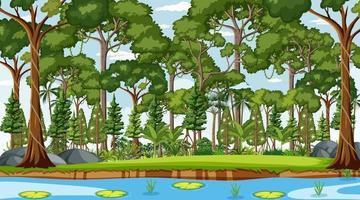 escena del paisaje forestal durante el día vector