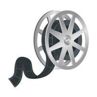 diseño de vector de icono de carrete de cine
