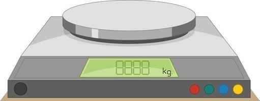 Báscula digital sobre un fondo blanco. vector