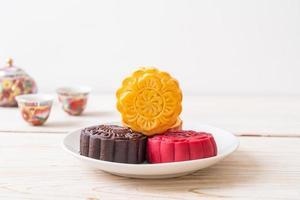 pastel de luna chino sabor a natillas foto