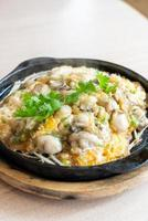 Oyster omelette with bean sprout photo