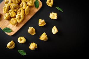 Italian traditional tortellini pasta photo