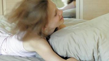 Morning Awakening women in bed video