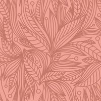 PINK BACKGROUND WITH CORAL PLANT ELEMENTS vector