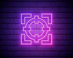 Goal neon style icon. Simple thin line, outline vector of fitness icons for ui and ux, website or mobile application isolated on brick wall